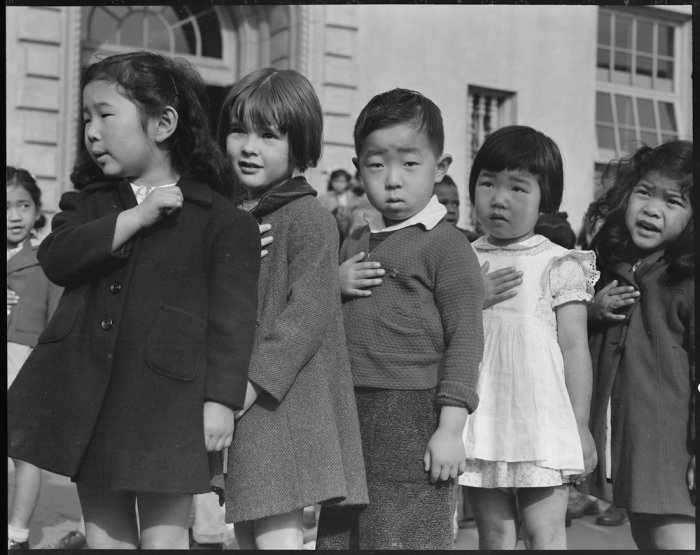 San Francisco, California. Many children of Japanese ancestry attended Raphael Weill public School, . . .